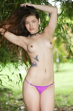Cute Exotic Girl Irene Rouse Slowly Stripping